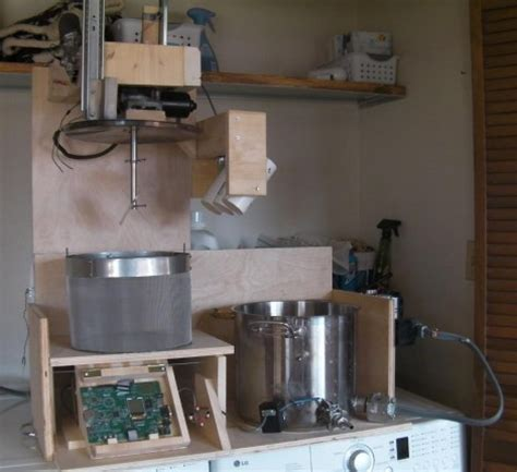 diy automated home brewery robot