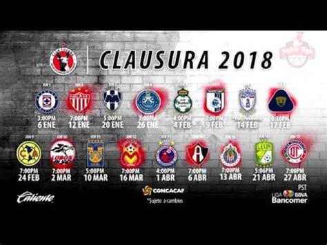 Calendario Liga Mx Monterrey Liga Mx Calendario