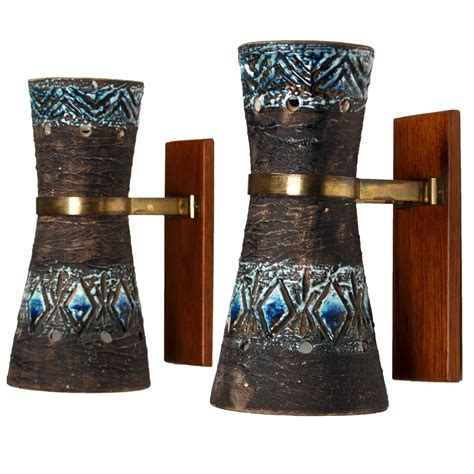 Ceramic Wall Sconce Pair Of Swedish Ceramic Wall Sconces At 1stdibs