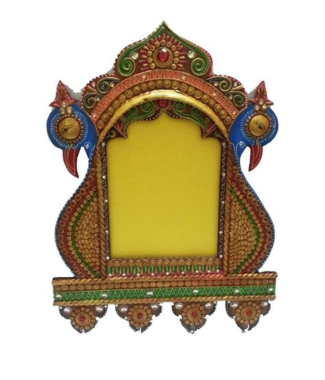 Handcraft Or Handicraft - hastkriti glossy wooden handicraft paper mache peacock