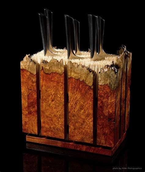 Custom Amboyna Burl Knife Block by Where Wood Meets Steel