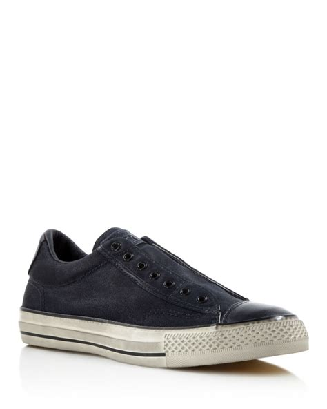 converse all sneakers lyst converse all vintage slip on sneakers in gray