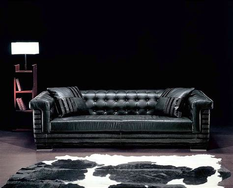 Luxury Contemporary Black Leather Sofa With Table L And Luxurious Leather Sofas