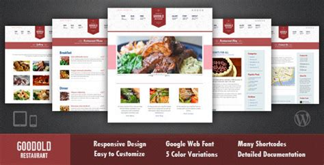 wordpress restaurant layout 20 delicious restaurant wordpress themes web graphic