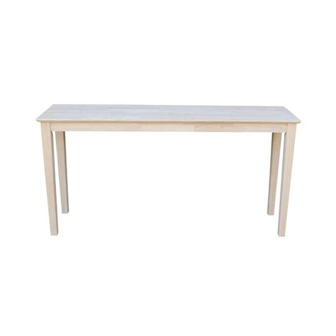 unfinished wood console table international concepts unfinished console table ot 696789