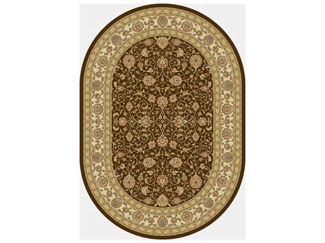 area rugs oval dynamic rugs ancient garden oval chocolate ivory area rug