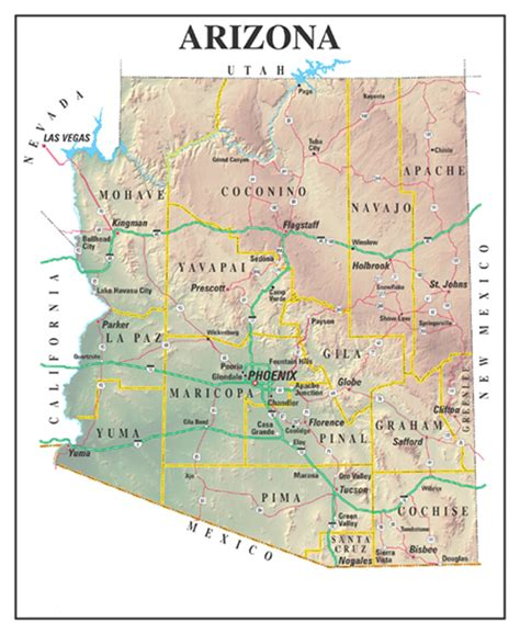 Az Search Arizona State Map Search Arizona Grand