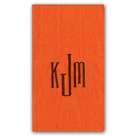 monogrammed disposable hand towels for bathroom guest towels modern personalized monogrammed paperstyle
