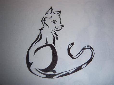 tattoo cat tribal tribal cat tattoo by thetater on deviantart