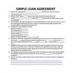 simple interest loan agreement template loan contract template 26 exles in word pdf free