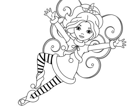 christmas fairy coloring page free coloring pages christmas coloring pages and fairy