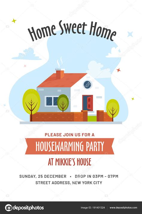 House Invitation Card Design