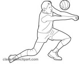 Sports Player Outline by Sports Player 05 Outline Classroom Clipart