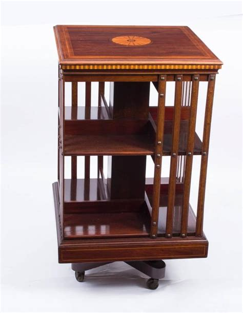 antique edwardian revolving bookcase maple and co circa