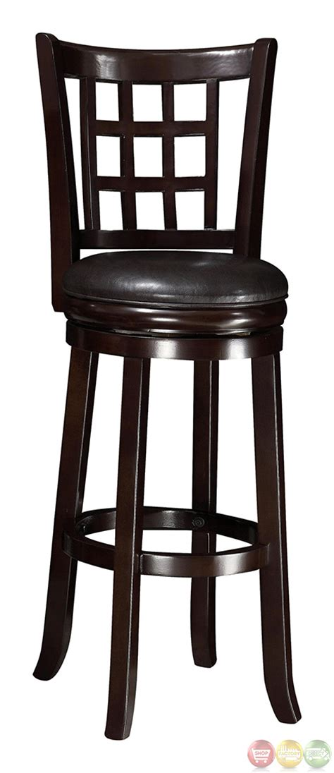 29 Inch Bar Stools With Back Wheat Finish Back Style 29 Inch Padded Seat Bar Stool