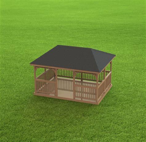 Hip Roof Gazebo Plans Garden Gazebo Building Plans I Hip Roof 12 X 16