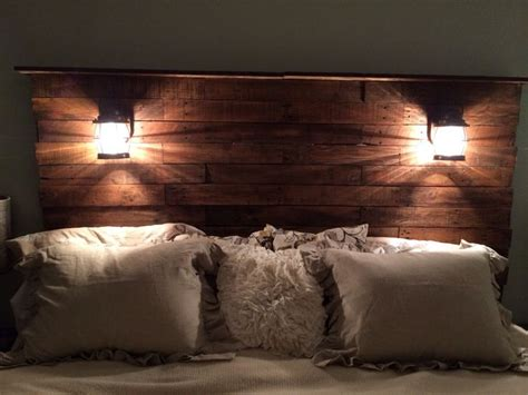 amazing headboards diy pallet headboard add stain cool lights bam