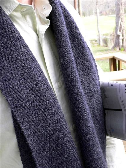 mens knit scarf pattern knitting patterns for in the loop knitting