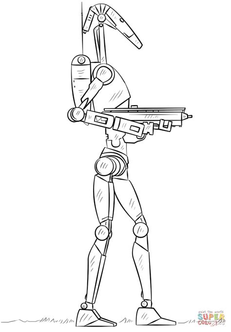 battle coloring pages battle droid coloring page free printable coloring pages