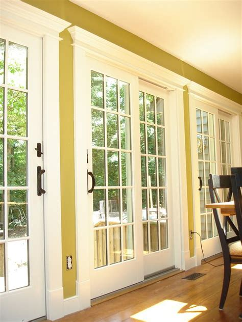 Patio Door Trim Molding These Are The 400 Series Sliding Patio Doors With Custom Trim Casing We Replaced