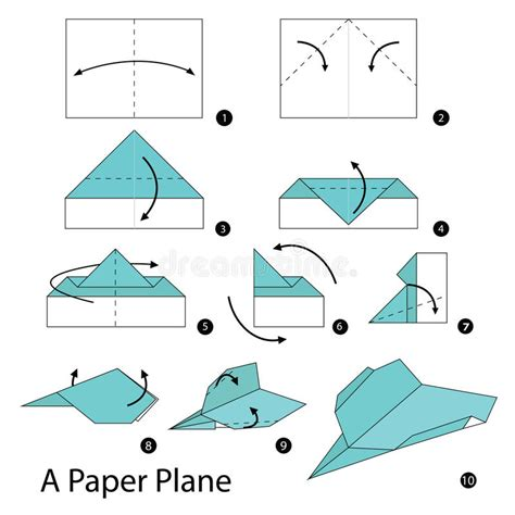 Paper Plane Folds - step by step how to make origami a paper