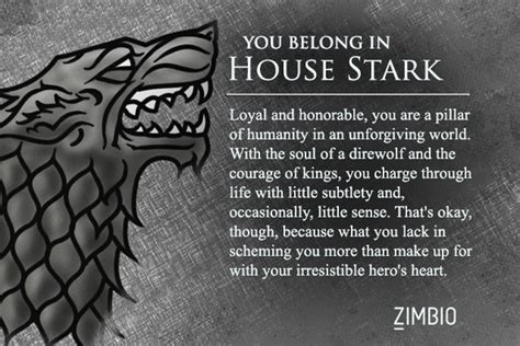 what game of thrones house am i which game of thrones house are you