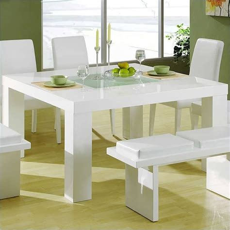 white dining table and bench set lovely modern dining room set with a white laminated