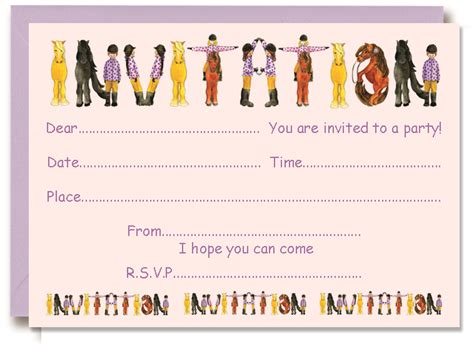 layout of an invitation to a party horse party invitations theruntime com