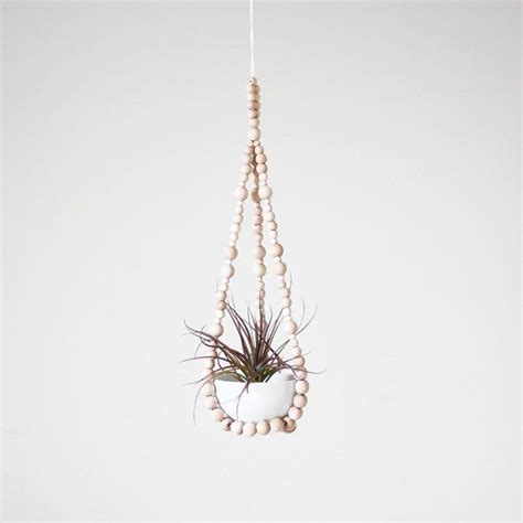 small hanging plants small beaded hanging planter with cup scandinavian