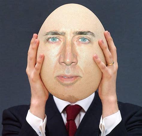 quot nicolas cage egg face swap meme quot posters by memesense
