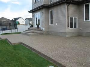 Backyard Flooring Exposed Aggregate Winnipeg Intelcrete Concrete Works