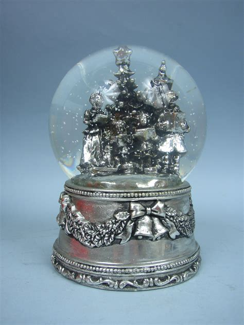 antique silverplate musical water globe by intl silver ebay