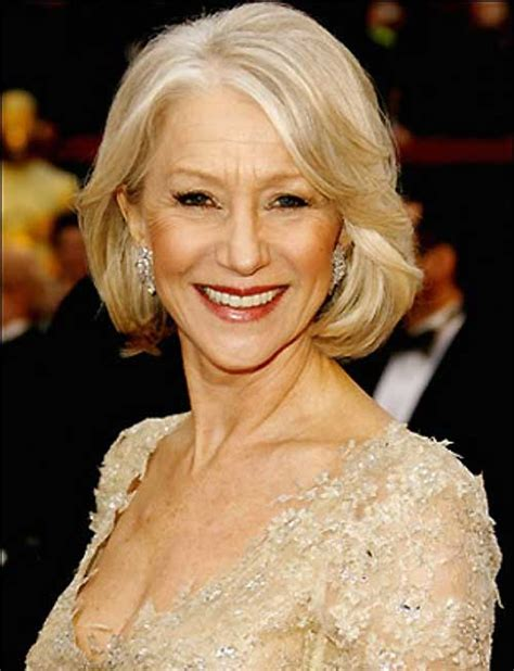 helen mirren how to style her bob short haircuts for over 60 the best short hairstyles for