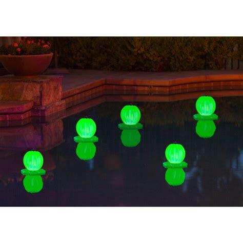 diy floating pool lights poolmaster floating solar lantern 2 pack in green 54503