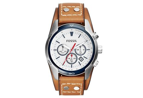 Fossil Noah Leather Silver fossil watchstrap ch2986 fossil sale