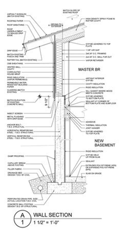 wall section diagram exterior wall section details