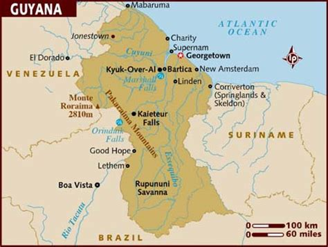 Guyana Search Map Of Guyana