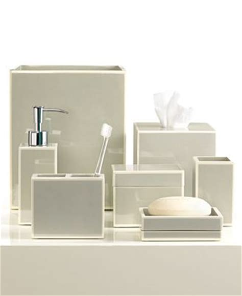 Bathroom Sets At Macy S Closeout Kassatex Bath Accessories Gray Soho Collection