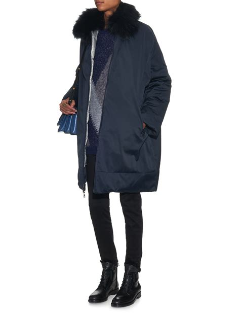 lyst weekend by maxmara afide reversible coat in blue