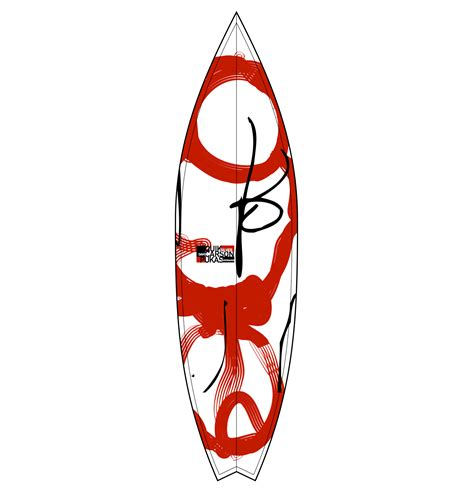 Drawing Board Besar surfboard david carson design