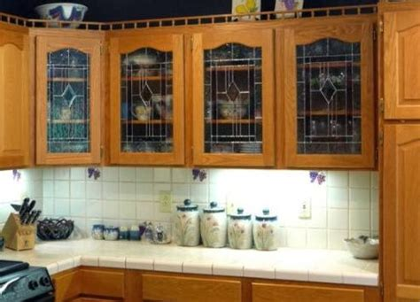 Glass Inserts For Kitchen Cabinets by Decorative Glass Inserts For Kitchen Cabinet Doors