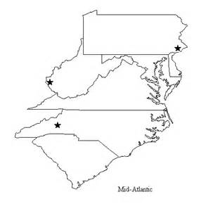 Mid Atlantic Outline Map by Classes By Region