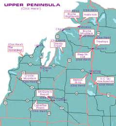 Northern Michigan Map by Ski Michigan Ski Areas And Ski Travel In Michigan