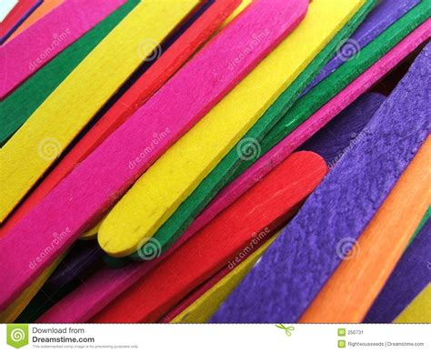 colored popsicle sticks colored popsicle sticks stock image image of orange