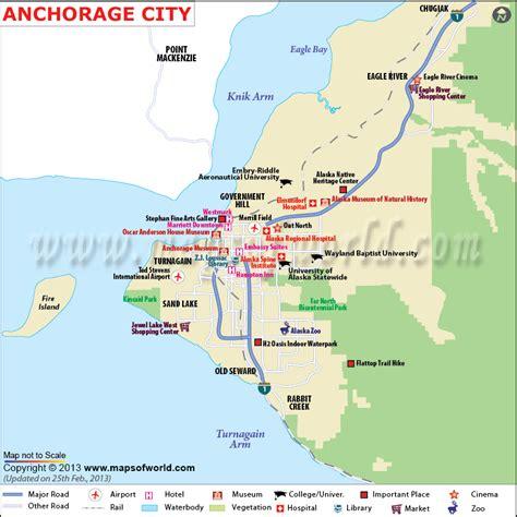 anchorage alaska us map anchorage map map of anchorage alaska