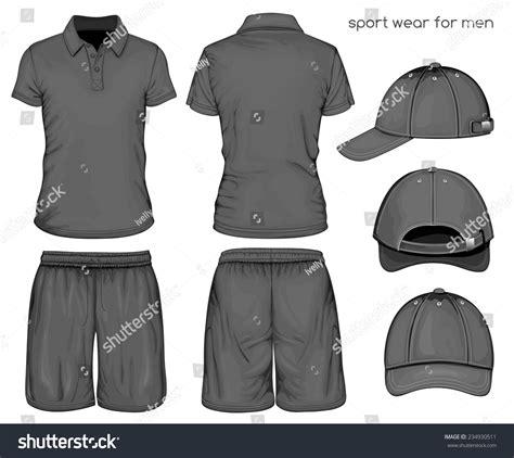 sport t shirt design templates mens black sleeve tshirt sport stock vector