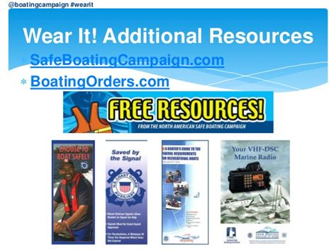 national safe boating council nonprofit grant national safe boating council wear it