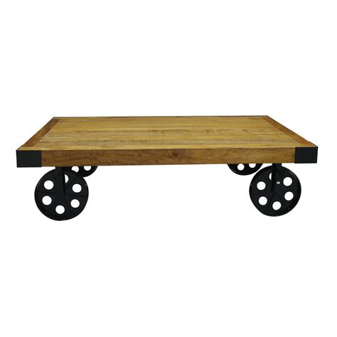 Coffee Table With Wheels Industrial Vintage Coffee Table With Wheels By The Orchard Furniture Notonthehighstreet