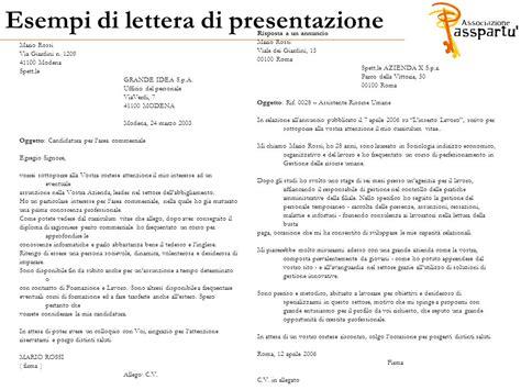 esempi di lettere di presentazione aziendale come scrivere un curriculum vitae efficace ppt scaricare