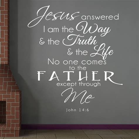 bible verses for the home decor john 14 6 jesus answered bible verse wall decal quotes